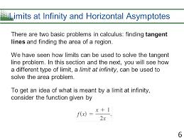 limits at infinity and horizontal asymptotes