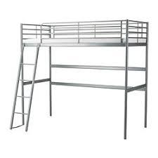 SVRTA Loft bed frame, silver color