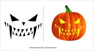 Pumpkin Carving Patterns Best Free Printable Face Scary Easy Pumpkin Carving Patterns Templates On
