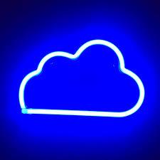 Light Neon Blue Led Neon Blue Cloud Light This Light Is Super Depop