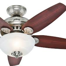 mount inch with light flush industrial wall hunter regalia brushed nickel ceiling fan with light kit fans parts and accessories lights kits universal