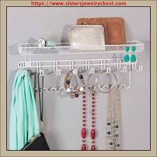 mdesign decorative metal closet wall mount jewelry organizer