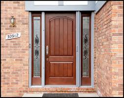 Small Picture Decorations Futuristic Brown Home Entry Door Design With Brick