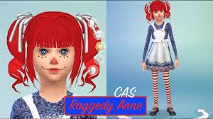 raggedy anne the sims 4 cas create a sim child costume