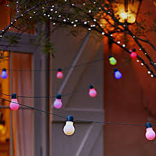 colour bulb solar led string lights