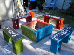 cinder block stairs ideas how to build outdoor fireplace with blocks cement for fire pit concrete bbq plans out fill your home interesting decoration