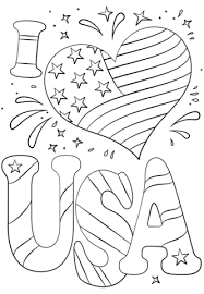 I Love Usa Coloring Page Free Printable Coloring Pages