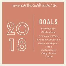 Pre Birth Plan 2018 Baby Planning Goals Earthbound Birth Wellness