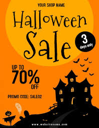 Halloween Sale Flyer Template Postermywall