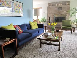 Retro Modern Living Room Simple Decorating