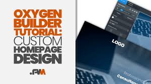 Design Own Logo From Scratch Oxygen Builder Tutorial How To Build A Custom Homepage From