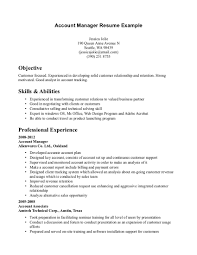 Cover Letter Sample Account Manager Resume National Account Manager