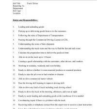 job description of truck driver truck driver job description template microsoft word templates j truck dump truck driver job description