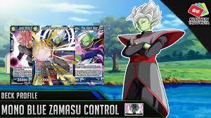 dragon ball super card game dbs tcg mono blue zam control deck profile
