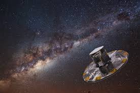 iccub artist s impression of the gaia spacecraft the milky way in the background