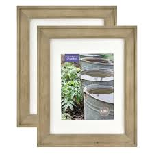 better homes gardens 11x14 8x10 rustic wood picture frame 2pk com