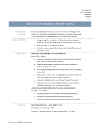 Insurance Underwriter Resume Sidemcicek Com