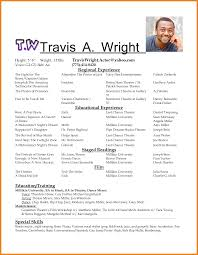 Acting Resume Templates actor resume template teller resume sample 3