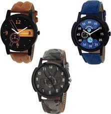SPINOZA 89S07 army style, <b>Blue</b> and brown combo chronograph ...