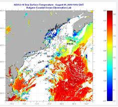 Rutgers Coastal Observation Lab Temperature Chart Delaware