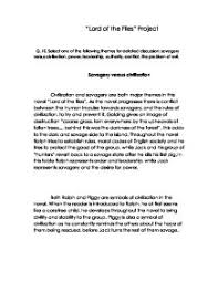 civilization vs savagery in lord of the flies essay topics  acc literary analysis english 1302 lord of the flies allegory civilization vs savagery essay