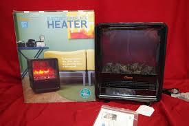 details about crane ef63d fireplace heater 1500w quiet black new n1