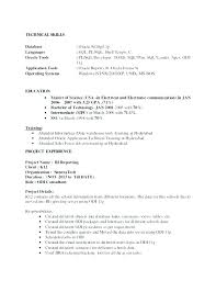 Oracle Developer Resume Sample – Joggnature