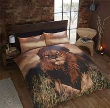 aslan lion bedding duvet cover photo print wild