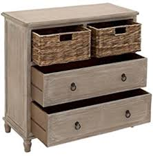 dresser with basket drawers. Deco 79 96338 Square Beige Wood Cabinet With Natural Wicker Storage Basket Drawers Whitewash Finish Inside Dresser