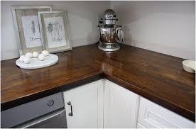 ikea wood countertops stained dark remodelista