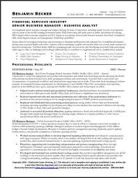 Business Analyst Resume Sample Financial Services Sample Resume
