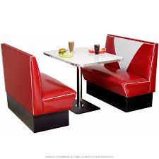 American Diner Kitchen Accessories 50s V Back Diner Booth Sets Retro Furniture Retroplanetcom