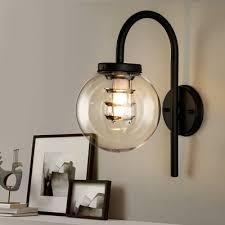 clear globe wall light fixture vintage