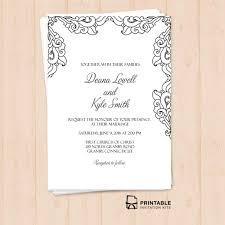 printable wedding invitations templates. free pdf vintage side border invitation \u2013 printable wedding template for diy brides invitations templates v
