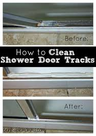 do you have hard water stains and soap s k on your shower door tracks