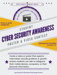 On Cyber Awareness Contest Security It Student Poster Video And News Ox1qOvI