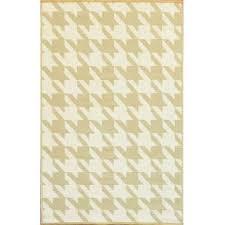 houndstooth cream umber outdoor mat