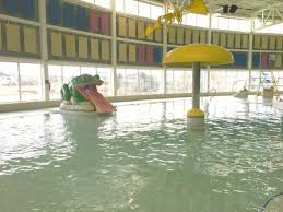 indoor pool with waterslide. Home Inn Regina: This Pool \u0026 Waterslide Is Designed For The Older Kids With A Fast And Deeper (no Toddler Area). Indoor L