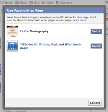 Daily tip: How to post from a Facebook Page with Facebook for iPhone ...