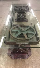 Industrial Fan Coffee Table Clyde Pennington Intuitive Iron Indpls In
