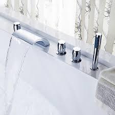 Waterfall Bathtub Chrome Widespread Waterfall Bathtub Basin Faucets Bath Shower Heads