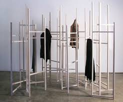 Design Coat Rack Jack Craig's Skeletal Coat Rack Turns Into a Room Divider as Clothes 100