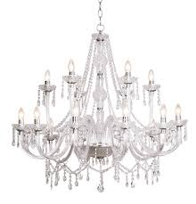 katie 18 light acrylic crystal chandelier ceiling light 826278 double insulated bxkat1850 17