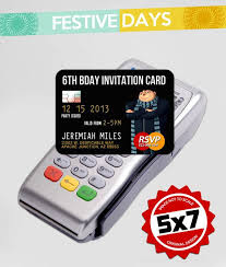 Credit Card Party Invitations 5x7 Invitation Credit Card Design Despicable Me By Festivedays