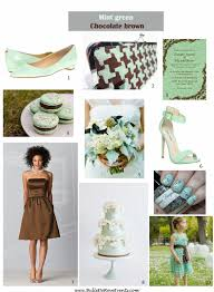 Mint green, chocolate brown, wedding inspiration board