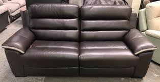 harvey s brown leather 3 seater recliner sofa