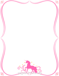 girly borders for microsoft word printable unicorn border use the border in microsoft word or other