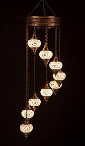 mosaic chandelier set 9 globe handmade authentic tiffany lighting moroccan lamp glass stunning bedside night lights brass glass ottoman turkish style