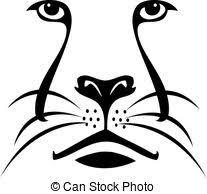 lion face black and white clipart.  Clipart Lion Face Silhouette Logo Inside Face Black And White Clipart