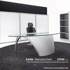 glass desk for office. Luna Glass Desks Desk For Office
